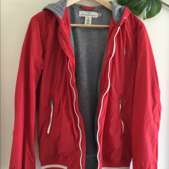 Red Varsity Hooded Jacket